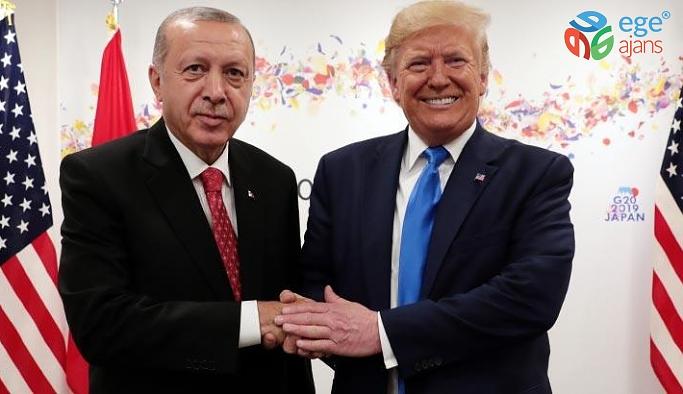 """Cumhurbaşkanı Erdoğan: """"ABD Başkanı Donald Trump ile ikili ilişkilerimizi ve bölgemizdeki meseleleri ele aldığımız verimli bir telefon görüşmesi gerçekleştirdik."""""""