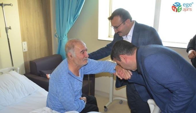 Başkan Doğan yaşlı ve hastaları ziyaret etti