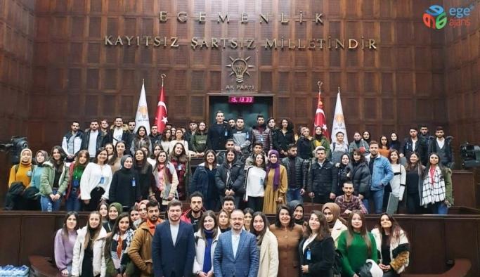 ÇOMÜ öğrencilerinden Turan ve İskenderoğlu'na TBMM'de ziyaret