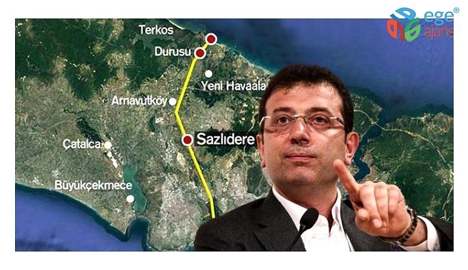 """Ekrem İmamoğlu, """"Kanal İstanbul cinayet projesidir"""" deyip risklerini sıraladı"""