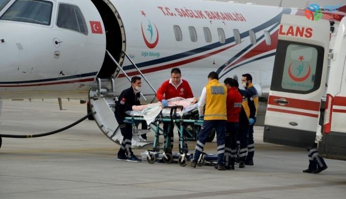 Uçak ambulans Kayseri'deki 2 hasta için havalandı