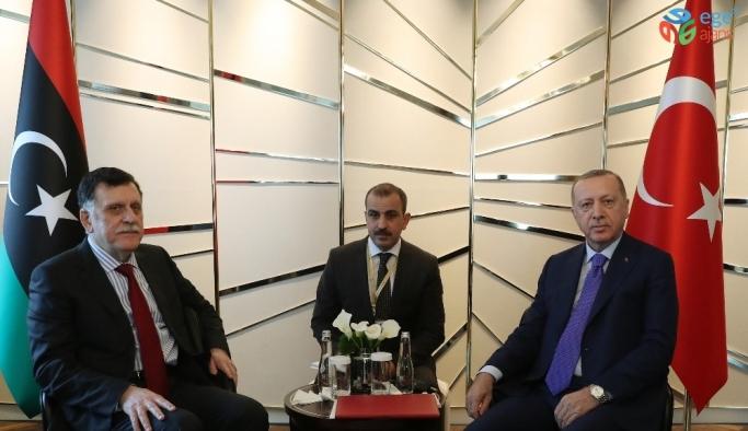 Cumhurbaşkanı Erdoğan, Libya Başbakanı Sarrac'ı kabul etti