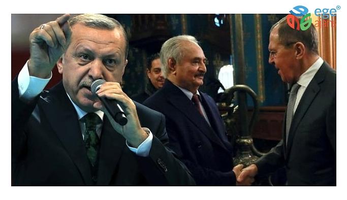 Erdoğan'dan masadan kaçan Hafter'e sert sözler: Yalan darbesi yaptı