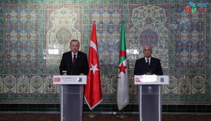 Erdoğan ve Tebbun'dan ortak basın toplantısı