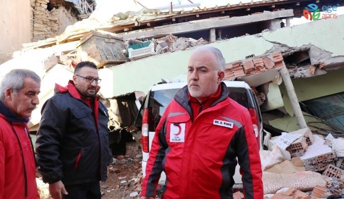 Kızılay Başkanı deprem bölgesinde