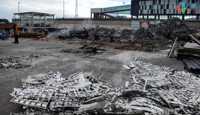 (Özel) Atatürk Havalimanı kargo bölümünde yıkım tamamlandı