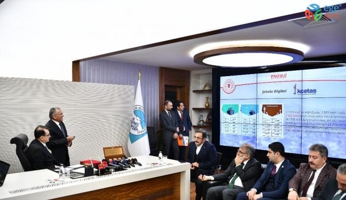 Enerji ve Tabii Kaynaklar Bakanı Dönmez, Başkan Büyükkılıç'ı ziyaret etti