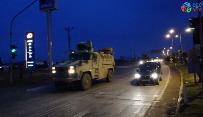 Suriye sınırına tank ve zırhlı iş makineleri sevk edildi