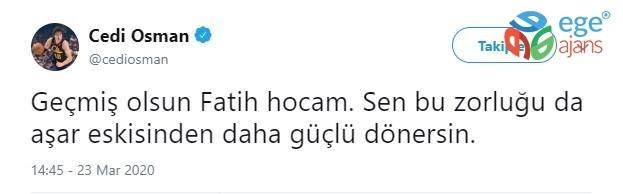 Cedi Osman'dan Fatih Terim'e geçmiş olsun mesajı