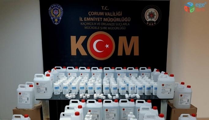 Çorum'da sahte dezenfektan üreten 1 kişi gözaltına alındı