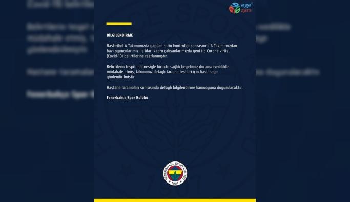 Fenerbahçe Beko'da korona virüs!