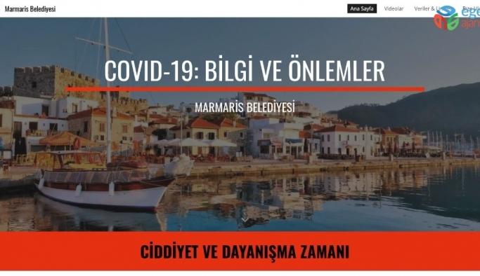 Marmaris Belediyesi Korona virüse karşı vatandaşları web sitesi ile bilgilendirmeye başladı