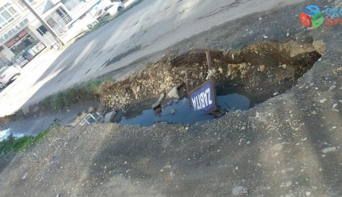 Vatandaşların kanalizasyon çukuru tepkisi