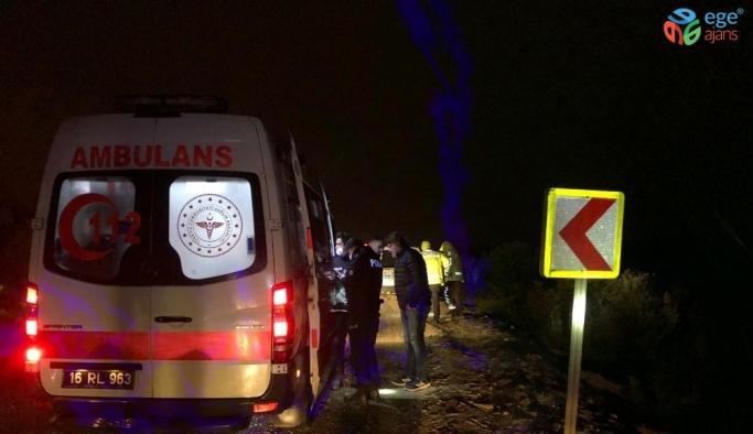 Bursa'da kontrolden çıkan otomobil 30 metre şarampole uçtu