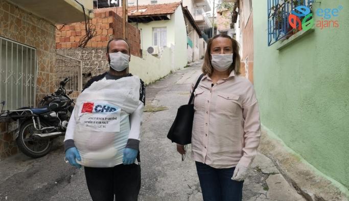 CHP Bayraklı İlçe Başkanı Pınar Susmuş'tan örnek yardım seferberliği