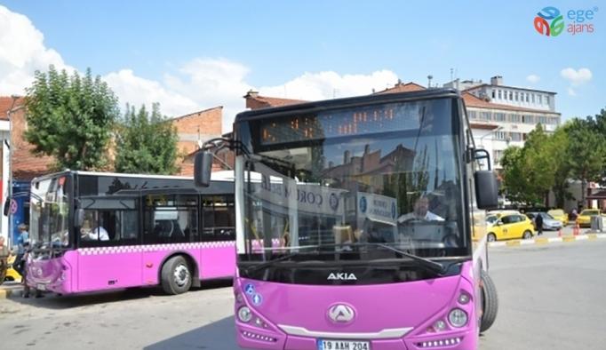 Çorum'da şehir içi toplu ulaşım araçlarında yeni düzenleme