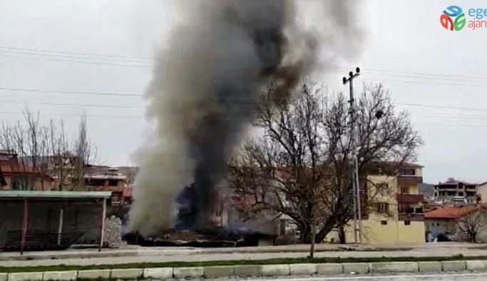 Malatya'da ev yangını maddi hasara yol açtı