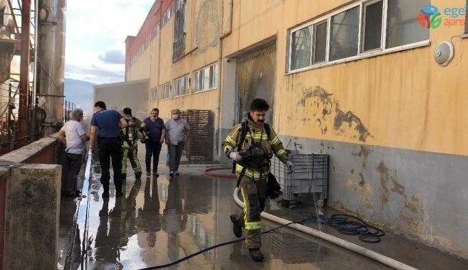 Bursa'da unlu mamulleri fabrikasında yangın