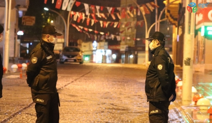 Karaman sokağa çıkma kısıtlamasının başlamasıyla sessizliğe büründü
