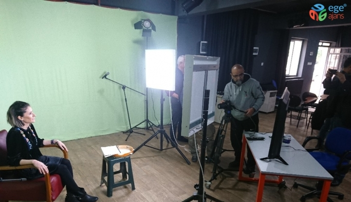 Aydın'da EBA ders içeriklerinin çekimlerine başlandı