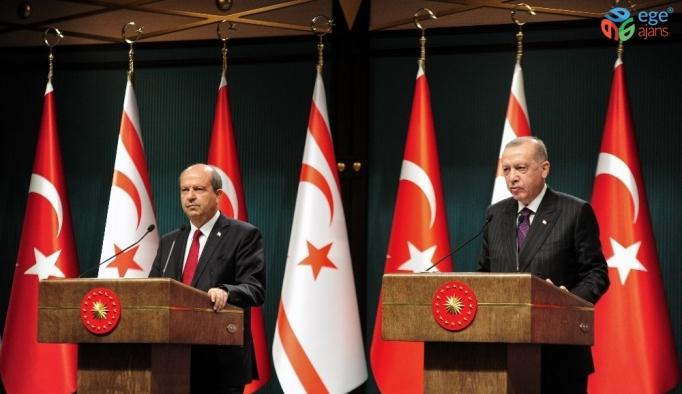 """Cumhurbaşkanı Erdoğan: """"Alaköprü Barajından alınan suyu Kuzey Kıbrıs Türk Cumhuriyetindeki Geçitköy Barajına aktardık"""""""