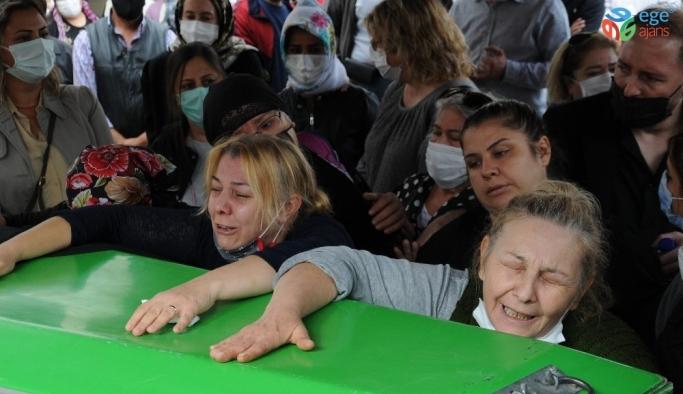 Kocası tarafından öldürülen genç kadının cenazesinde yürek yakan feryatlar