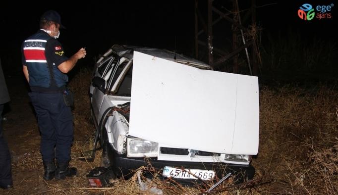 Kontrolden çıkan otomobil takla atarak tarlaya uçtu: 3 yaralı