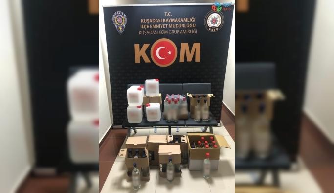 Kuşadası'nda sahte içki operasyonu, 4 kişi gözaltına alındı