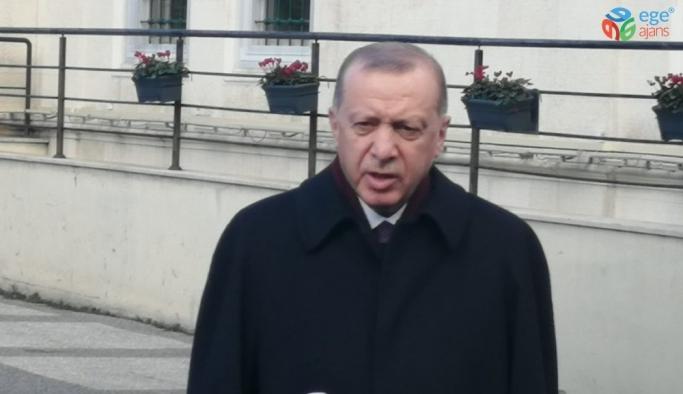 """Cumhurbaşkanı Erdoğan, """"Avrupa Birliği üyesi ülkeler içerisinde aklıselim sahibi ülkeler burada olumlu tavırlar ortaya koyarak, bu oyunu boşa çıkardılar"""""""