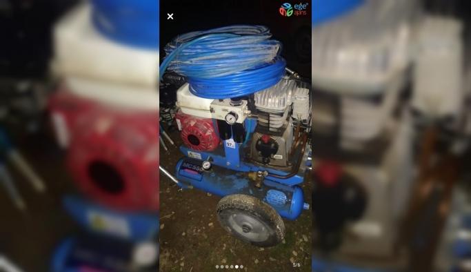 Jeneratör ve çim biçme makinesi çalan şahısları polis yakaladı