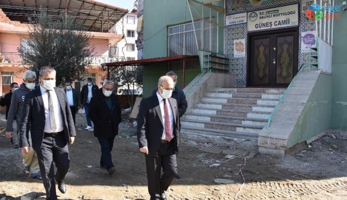 Güneş Camisinde çevre düzenlemesi başladı