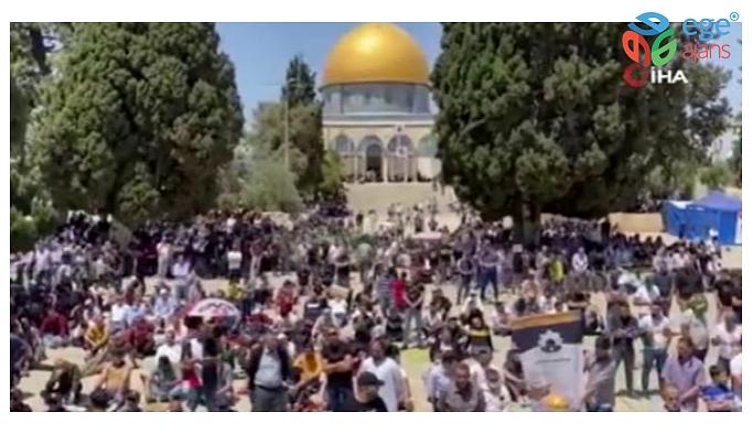 MESCİD-İ AKSA'DA 60 BİN KİŞİYLE CUMA NAMAZI