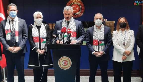 TBMM Türkiye-Filistin Dostluk Grubundan İsrail saldırılarına tepki