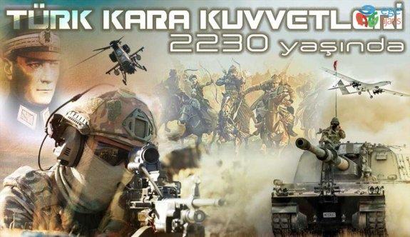Bakan Akar'dan Kara Kuvvetlerinin 2230'uncu kuruluş yıl dönümü mesajı