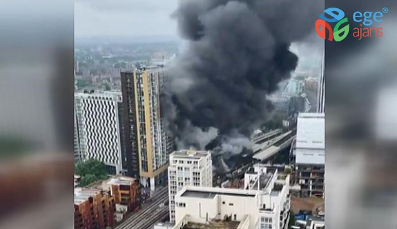 Londra'da büyük patlama ve yangın!