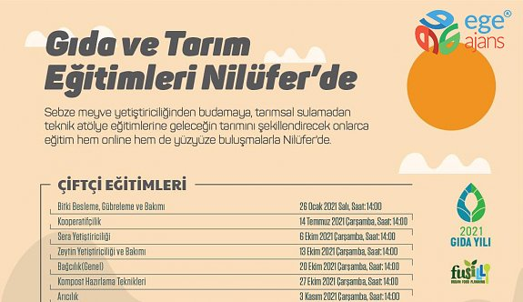"""Nilüfer'de """"Gıda ve Tarım"""" eğitimleri başladı"""