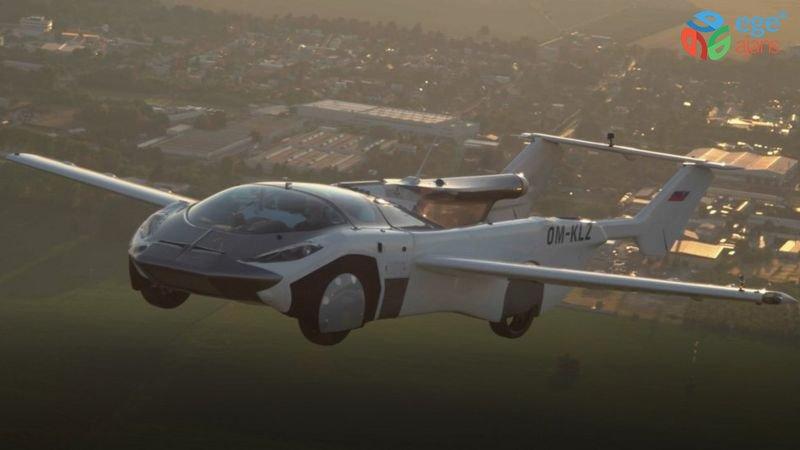 Uçan otomobil AirCar'dan iki havalimanı arasında test uçuşu: Süre 35 dakika, maksimum hız 170 kilometre