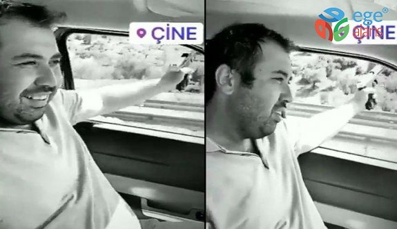 AKP'li Başkan hem araba kullandı, hem ateş etti