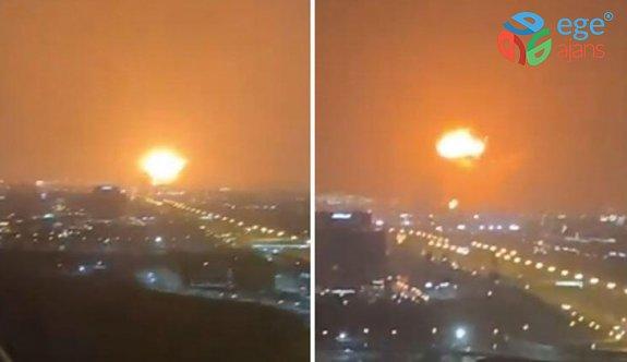 Dubai'de büyük patlama! Görüntüler dehşet verici