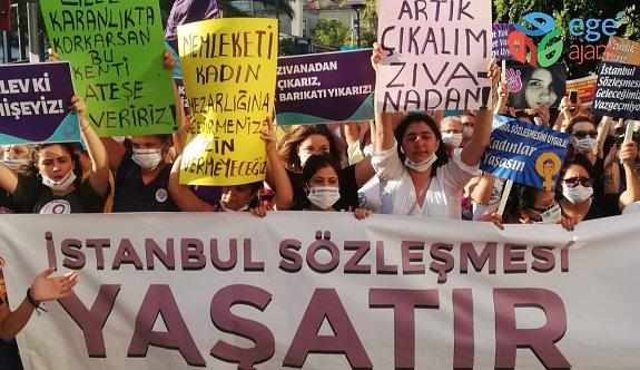 Kadınlardan İstanbul Sözleşmesi protestosu