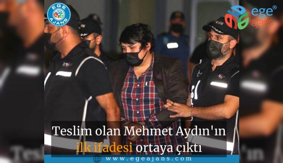 Teslim olan Mehmet Aydın'ın ilk ifadesi ortaya çıktı