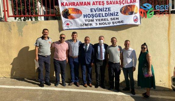 İzmir Tüm Yerel-Sen Şubesinden İtfaiye Ateş Savaşçıları Emekçilerine Destek
