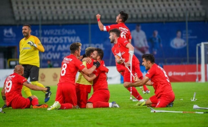 Ampute Milli Takımımız üst üste ikinci kez Avrupa şampiyonu!