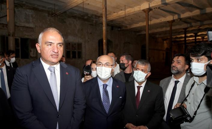 Bakan Ersoy yerinde açıkladı: Tekel Fabrikası Kültür Sanat Kompleksi oluyor