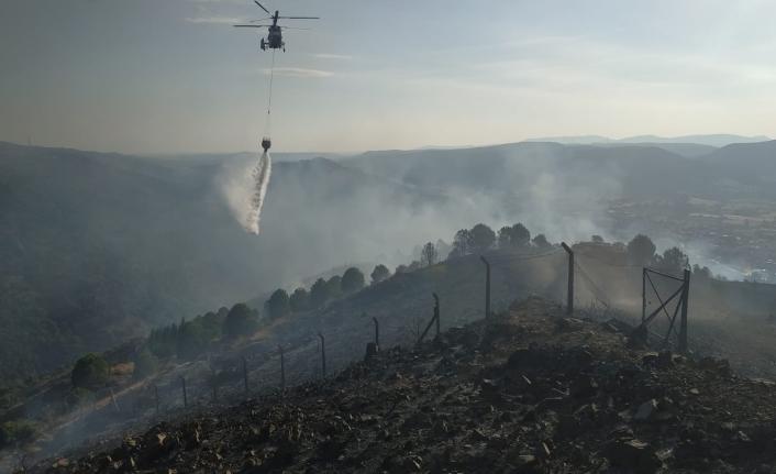 Güzelbahçe'de korkutan makilik yangını! Başkan İnce'den açıklama
