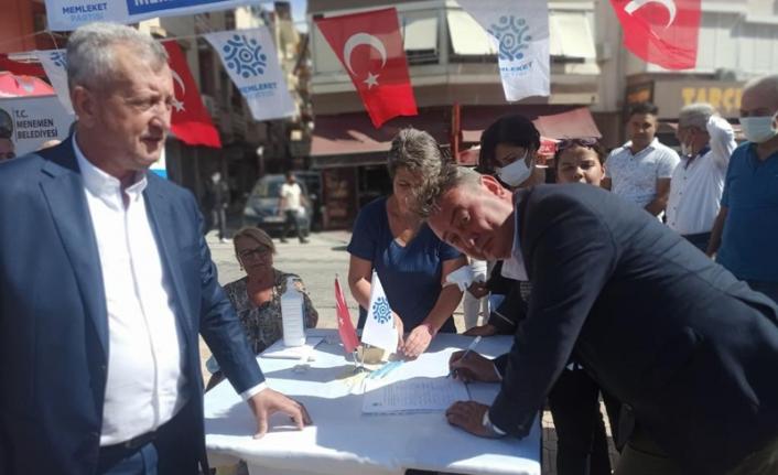 Memleket Partisi'nden Menemen'deki arazi satışına karşı imza kampanyası!