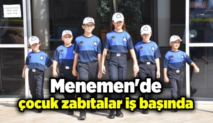 Menemen'de çocuk zabıtalar iş başında