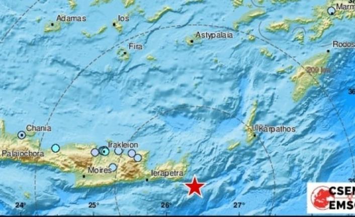 Girit Adası'nda 6,3 büyüklüğünde deprem! İzmir'de de hissedildi