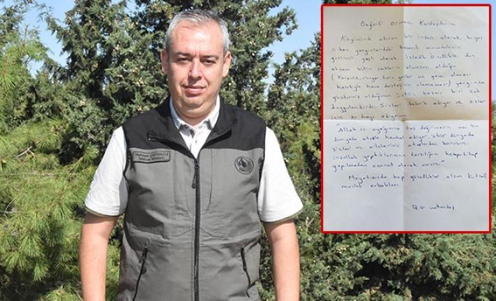 İzmir'de alev savaşçılarını duygulandıran mektup!