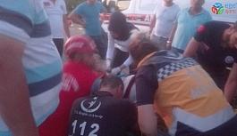 Burhaniye'de iki otomobil çarpıştı sürücüleri yaralandı
